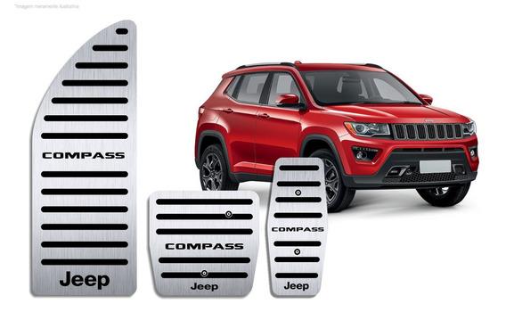 Pedaleira Descanso Jeep Compass Automático Aço Inox