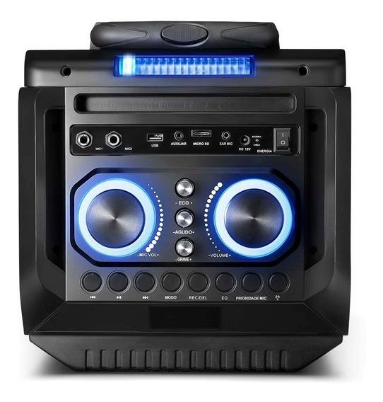 Caixa De Som Torre Disco Light 150w Rms - Sp299 C/ Microfone
