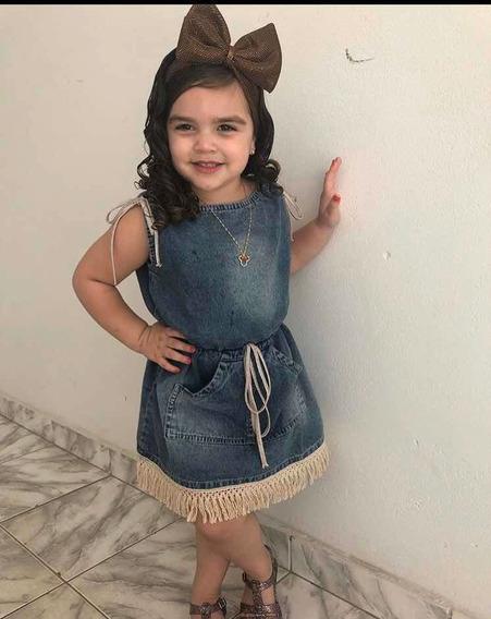 Vestido Jeans Blogueirinha / Tam G (6 Anos)