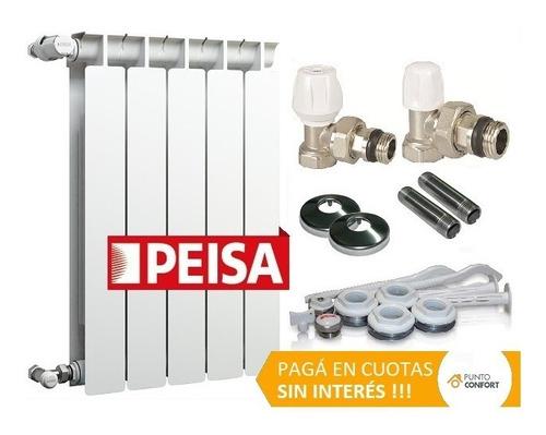 Radiador Peisa T500 X 8 Elementos + Kit + Cuotas + Envio