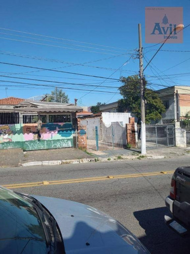 Terreno À Venda, 250 M² Por R$ 600.000,00 - Vila Formosa - São Paulo/sp - Te0070