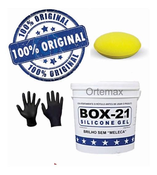 Silicone Gel Sem Meleca Box 21 3,6kgs Com Aplicador + Brinde