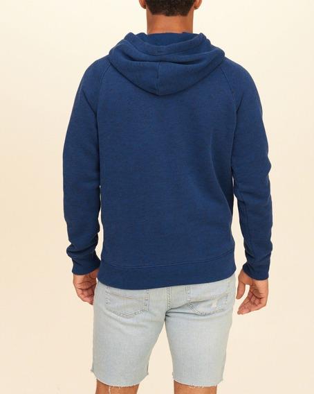Casaco Abercrombie Masculino Azul Logo Bordado Importado Gg