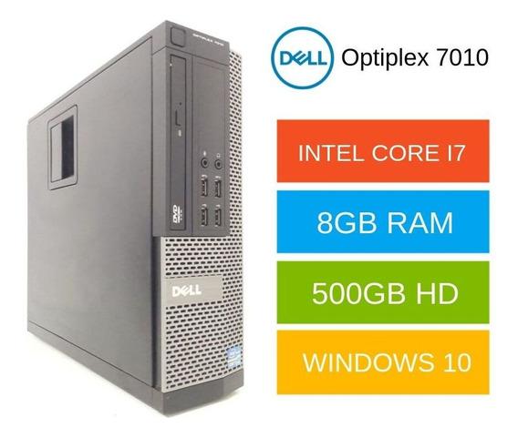 Cpu Dell 7010 Core I7 8gb 500gb Com Pacote Office