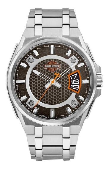Reloj Harley Davidson 76b180 P/ Hombre Con Fechador E-watch