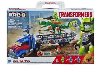 Kre-o Transformer Optimus Prime Dino Hauler Negro Adaptador