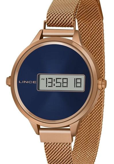 Relógio Lince Feminino Digital Rose Gold Sdr4637l Dxrx