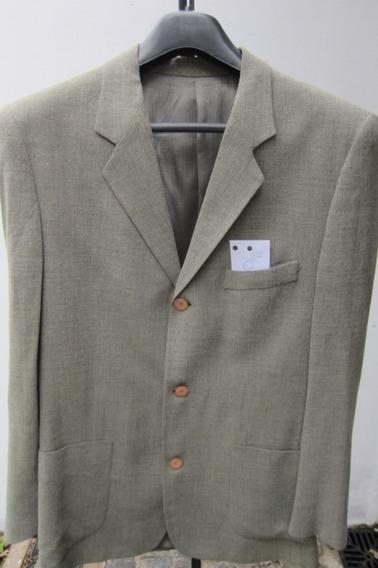 Saco De Vestir, Color Verde Cemento, Mancini Hombre!!!, Una