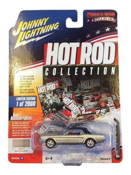 Auto 1966 Ford Mustang Johnny Lightning Hot Rod Colecci Rdf1