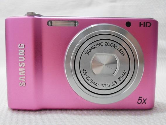 Máquina Câmera Digital Samsung St64 St 64 Rosa - Usada