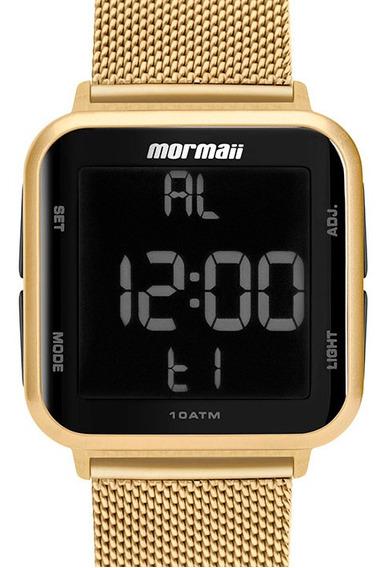 Relógio Feminino Dourado Digital Mo6600ah/8d A Prova D Água