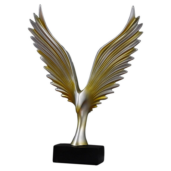 Asas Figurines Resina Ornamentos Vitórias Estátua Desktop