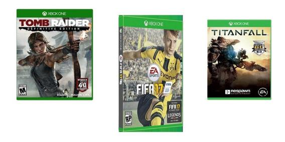 3 Jogos De Xbox One - Fifa 17 - Tomb Raider - Titanfall Orig
