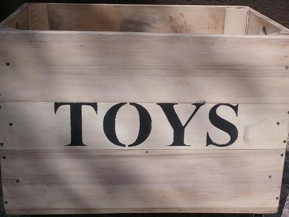 Cajon Juguetero Toys De Madera Organizador 60x40x40 A Medida