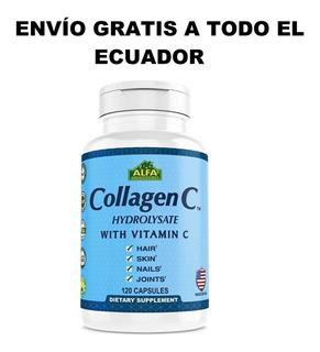 Colágeno Hidrolizado + Vitamina C - Alfa 120 Tabletas