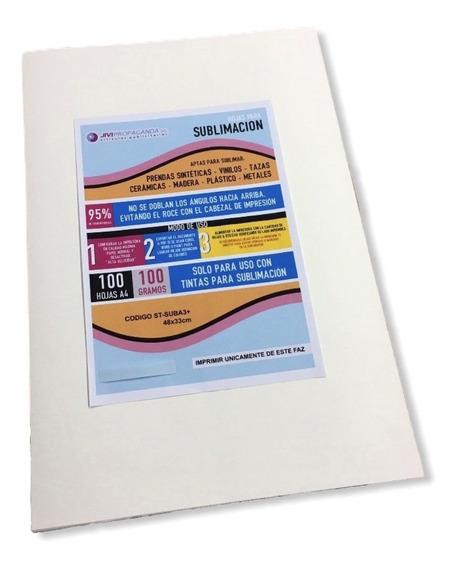 Papel Para Sublimación A3+ Pack 100 Hojas Textil Y Rígidos