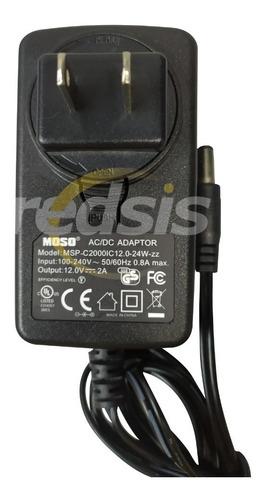Imagen 1 de 3 de Adaptador Regulador 100-240v 12v 2a Plug Universal Moso (v)