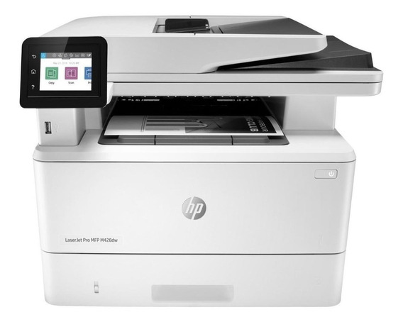 Impressora multifuncional HP LaserJet Pro M428DW com Wi-Fi 110V - 127V branca