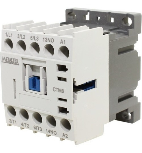 Mini Contator Tripolar 15a Ac3 110vca Ctm16-e5-310 Metaltex