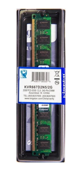 Memória Kingston Ddr2 2gb 667 Mhz Desktop - Kvr667d2n5/2g