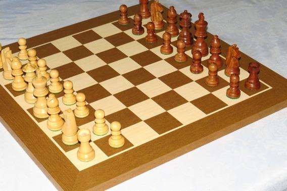 Jogo De Xadrez Completo, Madeira, Rei 8cm, Artesanal, Lindo!