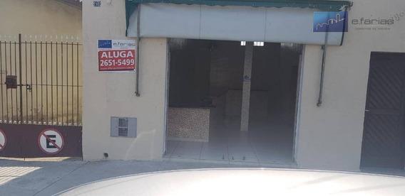 Ótimo Salão Comercial Para Locação Na Vila Dalila, Com 50m² - Sl0020
