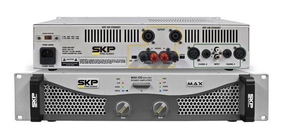 Amplificador Skp Max 420 De 400 Watts Rms - Bivolt