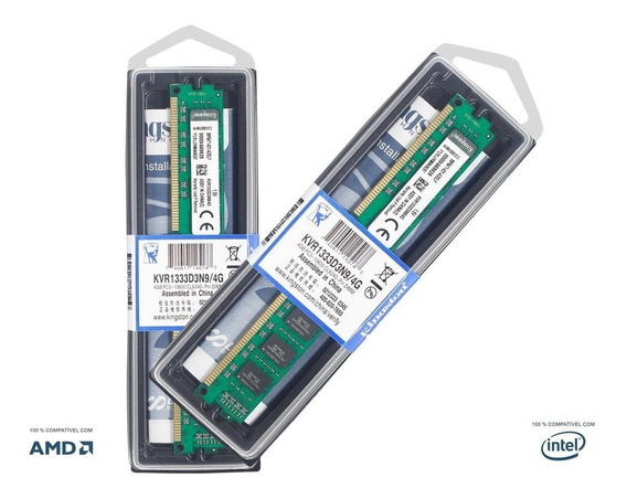 Memória Kingston 4gb 1333 Ddr3 P/ Pc Kvr1333d3n9/4g Nova