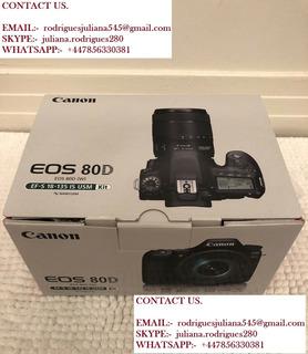 Canon Eos 80d Cámara + 18-135mm Lente