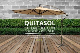 Quitasol Extendible Con Soporte Y Pedestal Quemetrajiste.cl