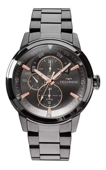 Relógio Technos Masculino Grandtech T36 Preto Rosê