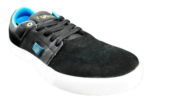 Zapatilla Skate Vuela Alto Negro Turquesa The Dark King