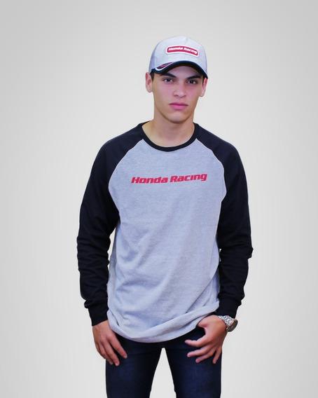 Camiseta Moto Honda Manga Longa - Coleção Racing - Produto Oficial