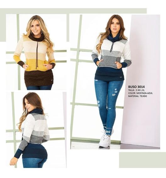 Saco Suéter Casual Material Tejido Dama Sadayshop