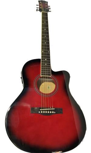 Guitarra Acústica Eléctrica - Incluye Funda Y Accesorios
