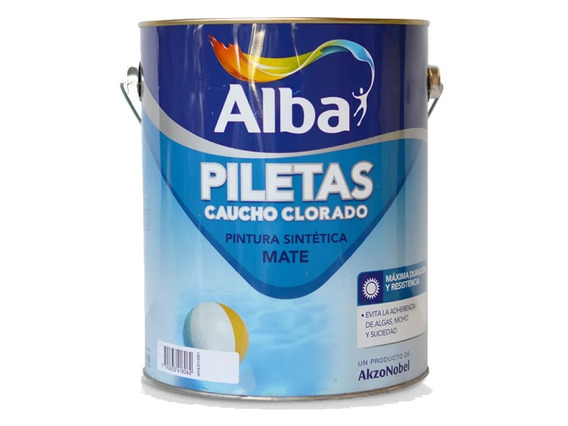 Alba Pintura Piletas Caucho Clorado Mate 4 Lts - Sagitario