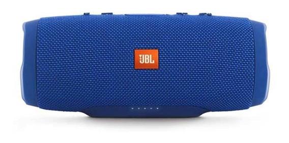 Caixa De Som Portátil Jbl Charge 3 Azul