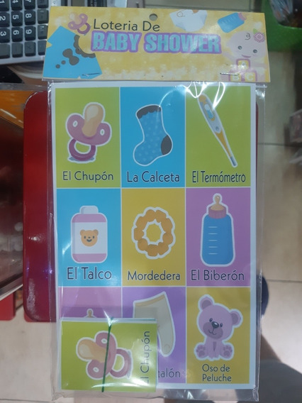Kit 12pz De Lotería De Baby Shower