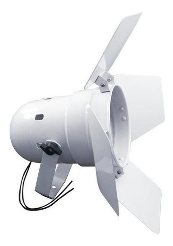 Canhão Refletor Par 38 Branco C/ Bandeira Barndoor Integrado