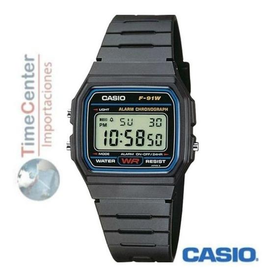 Reloj Casio Digital F-91 Alarma Cronometro Luz Hombre Mujer