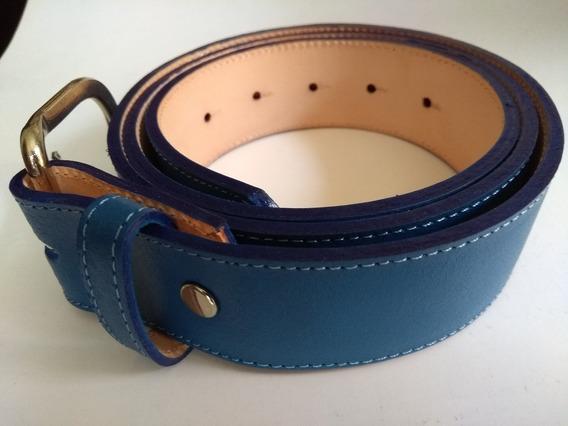 Cinturon Beisbol Azul Rey Varias Tallas 28 A 42 Piel Cinto