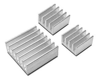 Kit X3 Disipadores Heatsink Raspberry Pi Ideal Overclock