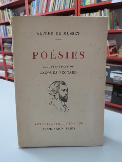 Livro Poésies Alfred De Musset 1953 Em Francês Raro