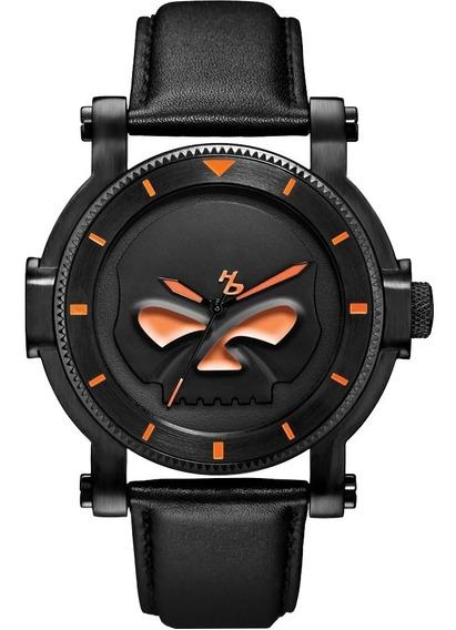 Reloj Harley Davidson Calavera Luminiscente Original 78a114