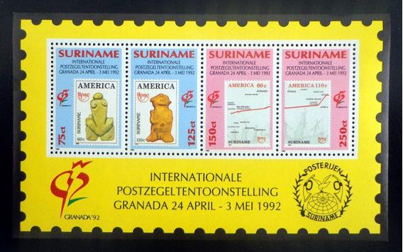 Surinam, Bloque Sc. 918 Expo Granada 1992 Mint L8756