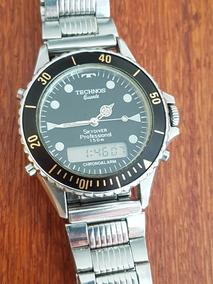 Relógio Original Technos Skydiver 150m Cronógrafo Alarme