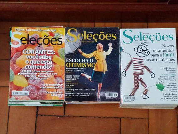 Lote 35 Revistas Seleções - Loucura Quase Dado