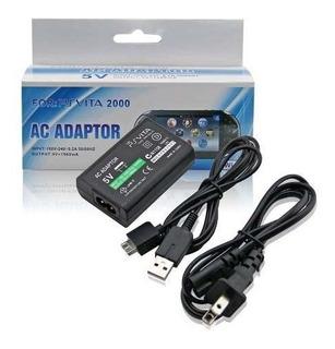Cargador Eliminador Para Consola Sony Psp Vita Con Cable De Datos