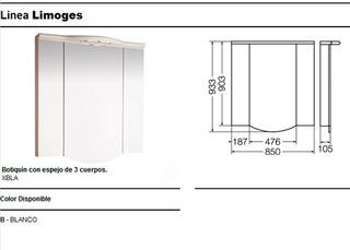 Botiquin Ferrum Limoges Con Iluminación - Unico En Ml