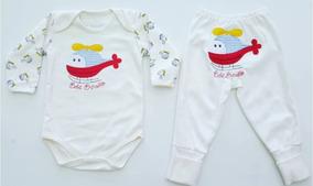 Body Manga Longa E Culote C/ Pé Reversível Bebê Brincalhão A